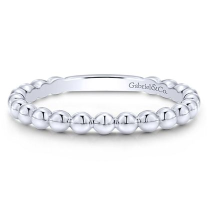 Gabriel 14k White Gold Stackable Ladies RingLR4871W4JJJ 11 - 14k White Gold Stackable Ladies' Ring