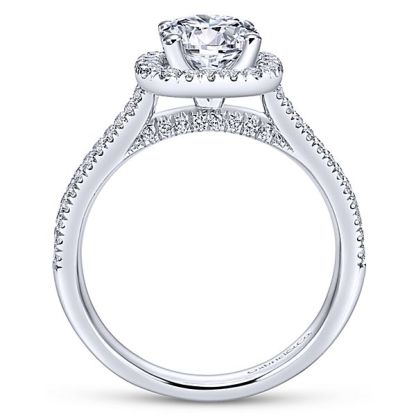 Gabriel Brianna 14k White Gold Round Halo Engagement RingER6984W44JJ 21 - 14k White Gold Round Halo Diamond