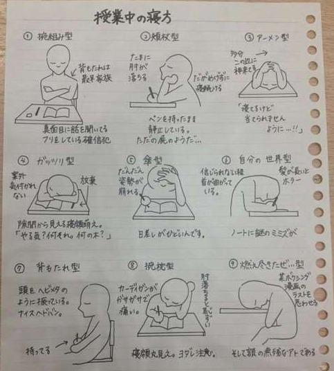「授業中 寝方」の画像検索結果