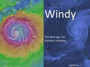 天気アプリ「Windy」でみた今回の超大型台風接近