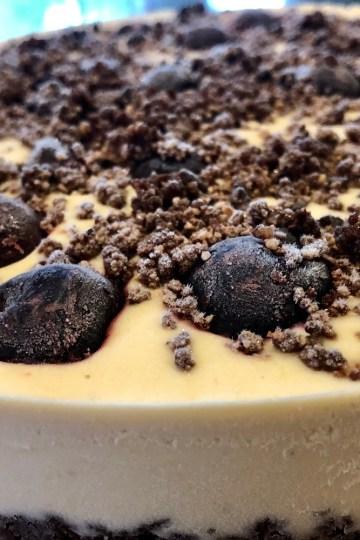Raw Vegan White Chocolate Cherry Cheesecake