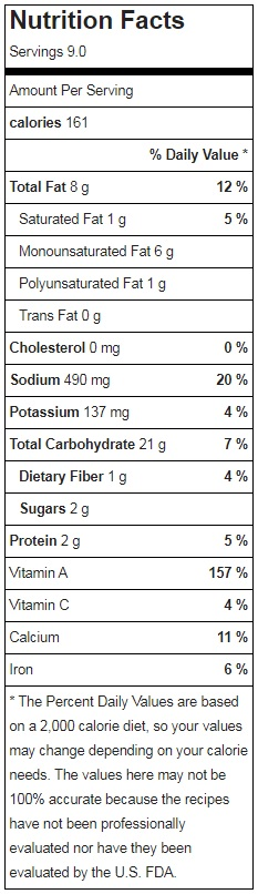 Raw Vegan Stuffing Nutrition Facts
