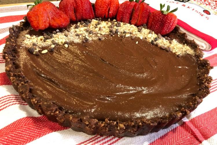 Raw Vegan Chocolate Tart