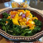 Massaged Kale Salad with Mango Salsa