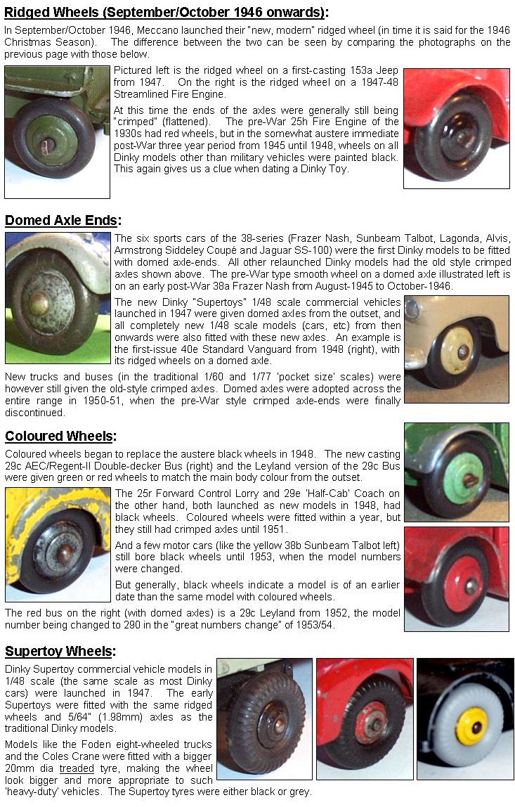 Dinky Northeast Wheels And Axles