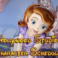 Hollywood Studios Character Schedule