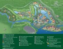 Saratoga Springs Disney World Resort Map