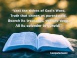 Vast the Riches of God's Word