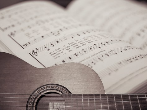 Guitar and Hymnal