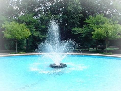 Fountain at Samford University