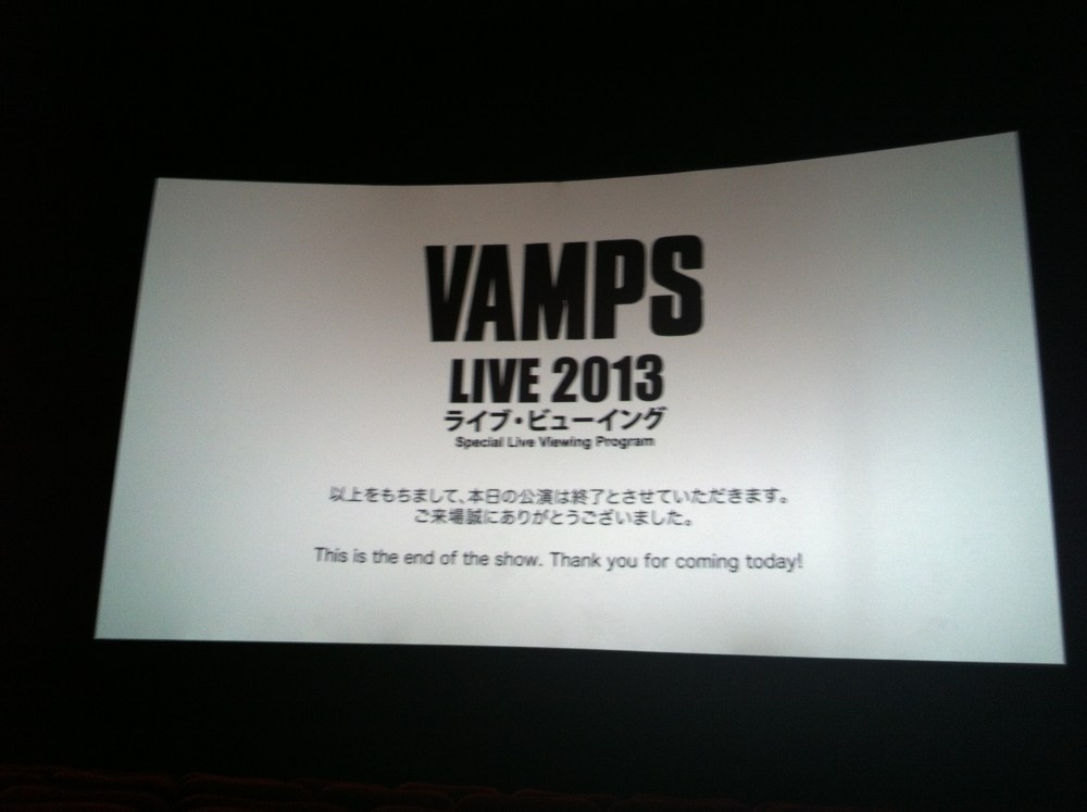 Come on bloodsuckers!: The VAMPS LIVE 2013 Live Viewing in Jakarta Experience (4/4)