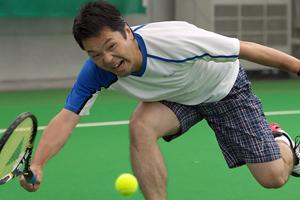 田村コーチプレー写真