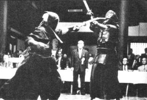 Furuya sensei executing tsuki at the Kyoto Taikai in the 1970s.