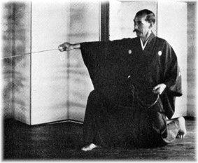 Nakayama Hakudo demonstrating proper nukitsuke for Muso Shinden Eishin Ryu/Muso Shinden Ryu