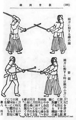 1930 - page from a kendo manual
