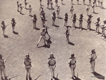 1930s-40s (probably) - army kendo practise