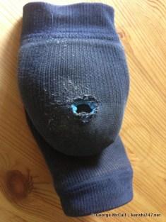 The worn heel supporter