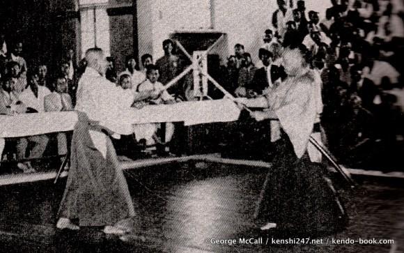Takano Sasaburo (l) and Shigeyoshi (r) performing kendo no kata
