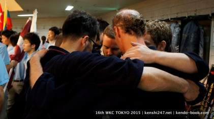 Ireland team hug