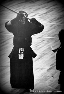 Undated (but cool!) pic of Toda sensei's jodan kamae
