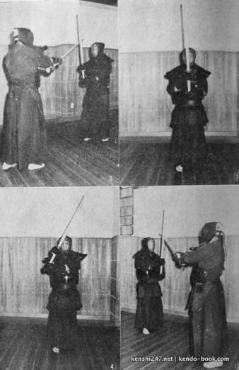 How to receive kirikaeshi. Bottom left is the wrong method