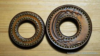 Smaller tsuba and the great wave tsuba