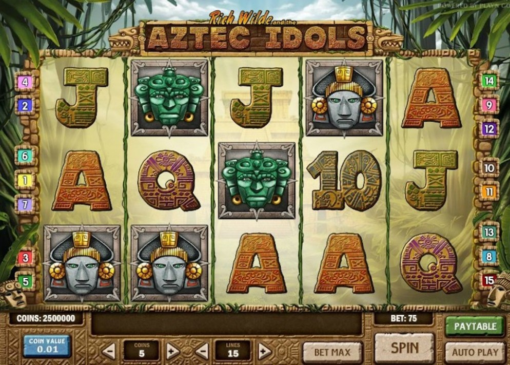 Aztec Slots - Rich Wilde and the Aztec Idols Slot Game