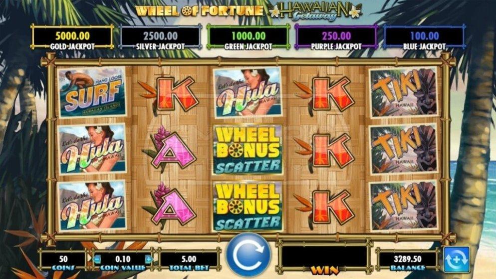 Tiki Slots - Wheel of Fortune Hawaiian Getaway