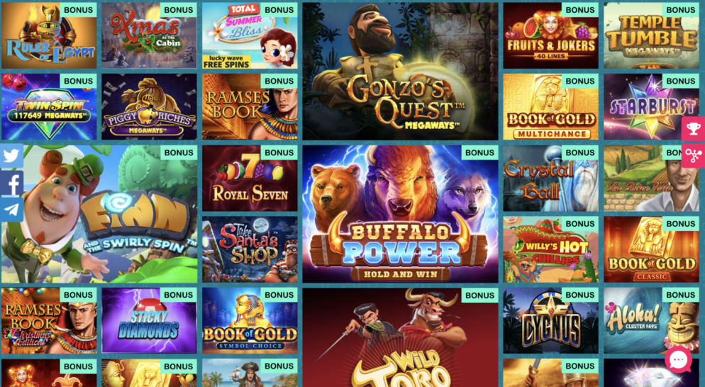 Selection of Lotaplay Casino Games
