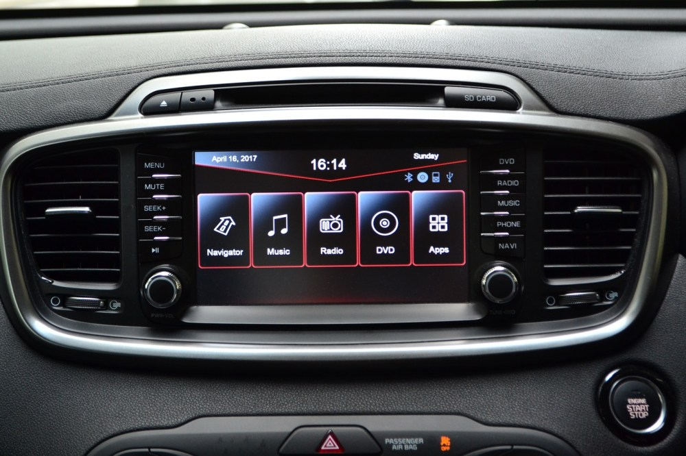 medium resolution of as far as touchscreen infotainment system goes the carnival s is pathetically small and basic a 4 3 tft touchscreen doesn t really cut it for a cabin as