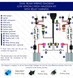 dual beam low xenon high halogen with relay harnest wiring diagram [ 1024 x 1024 Pixel ]