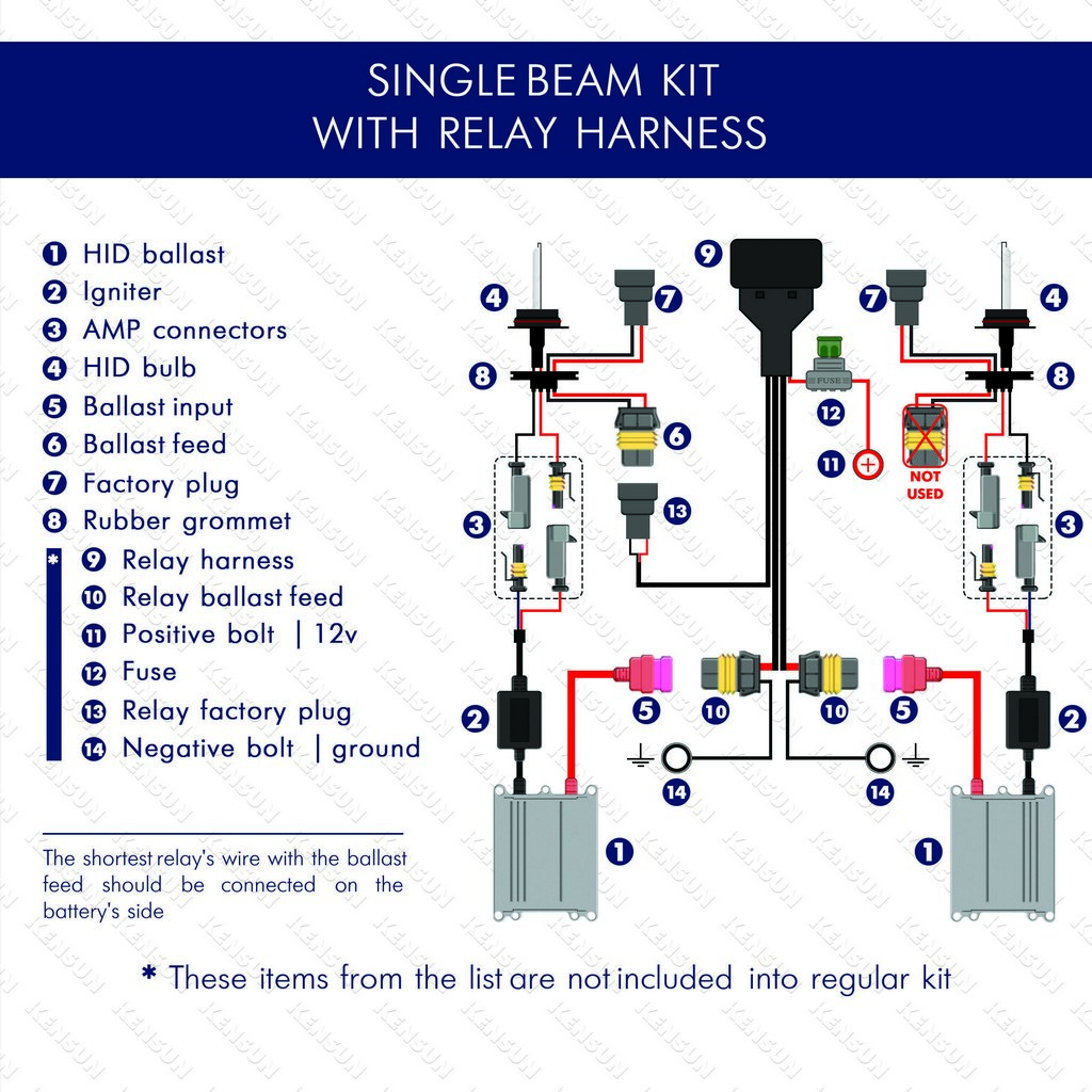 hight resolution of single beam with relay harnest wiring diagram
