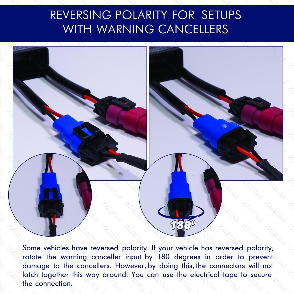 hight resolution of warning canceller reverse polarity