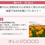 懸賞ブログ_10/18 懸賞情報 花クイズ プレゼント