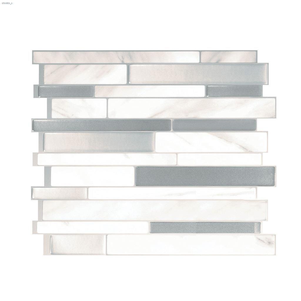 11 55 x 9 63 milano carrera mosaic wall tile 6 pack
