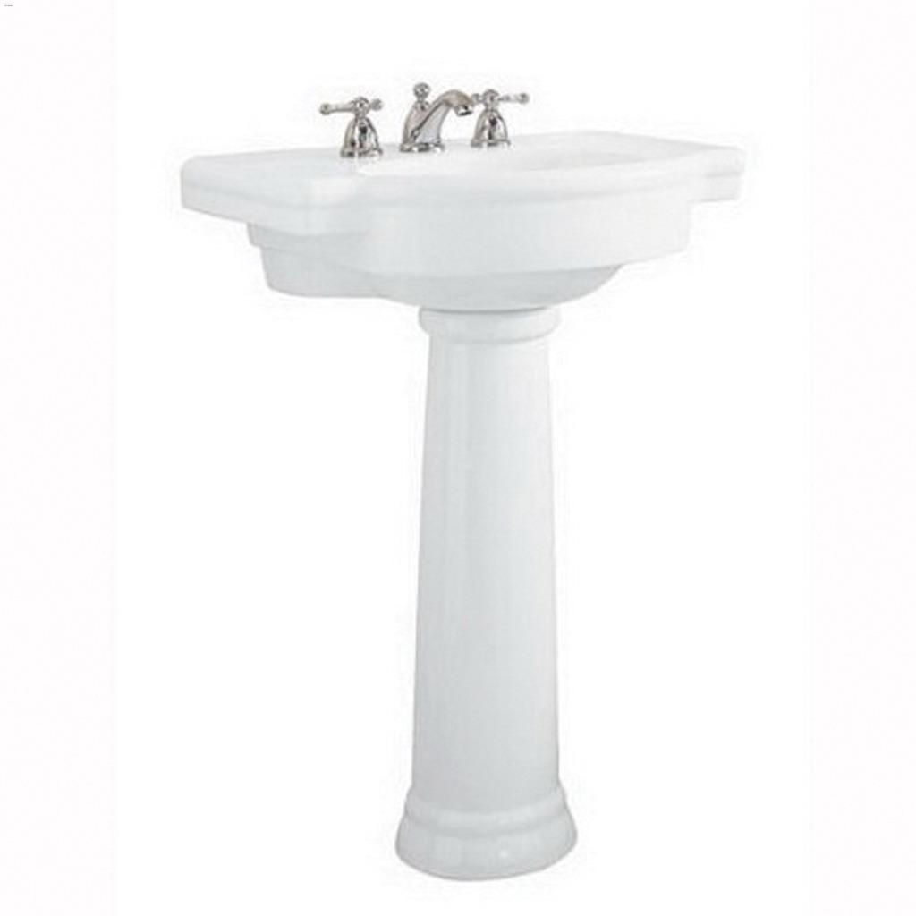 28 1 4 x 9 7 8 fireclay white retrospect pedestal sink leg