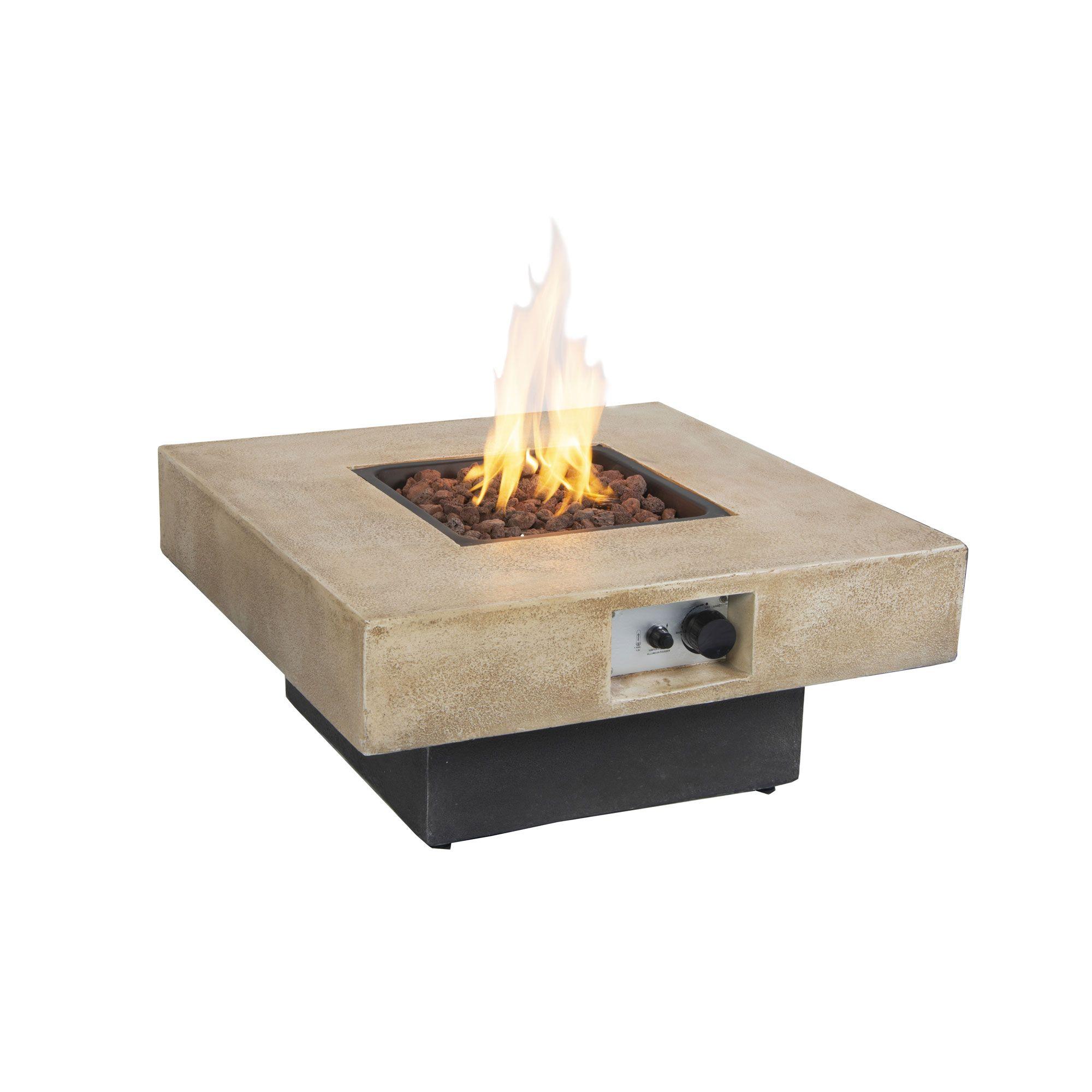 Brayden Gas Fire Table Outdoor Heating Kent Building Supplies
