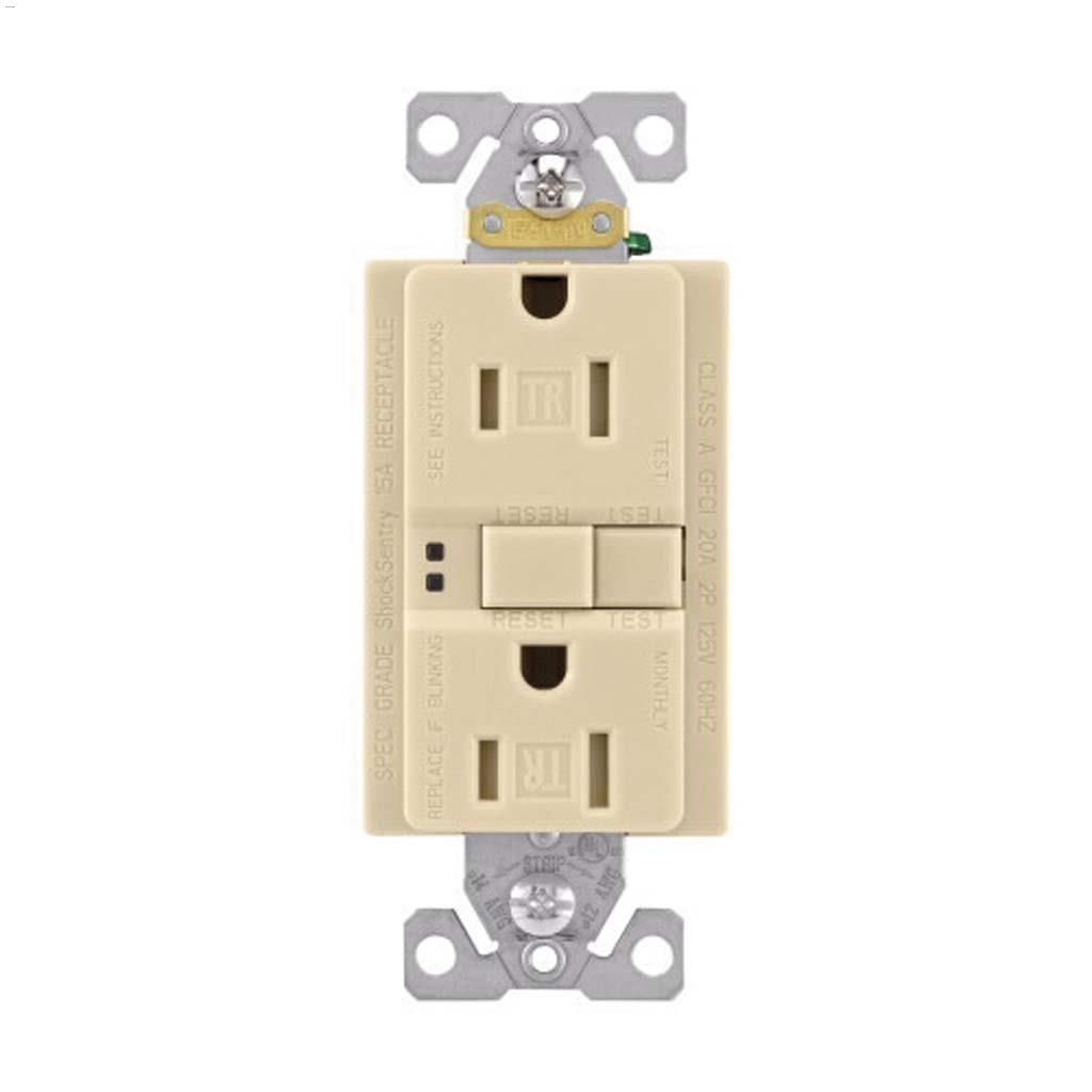 hight resolution of ivory gfci receptacle 15a 2p 3w