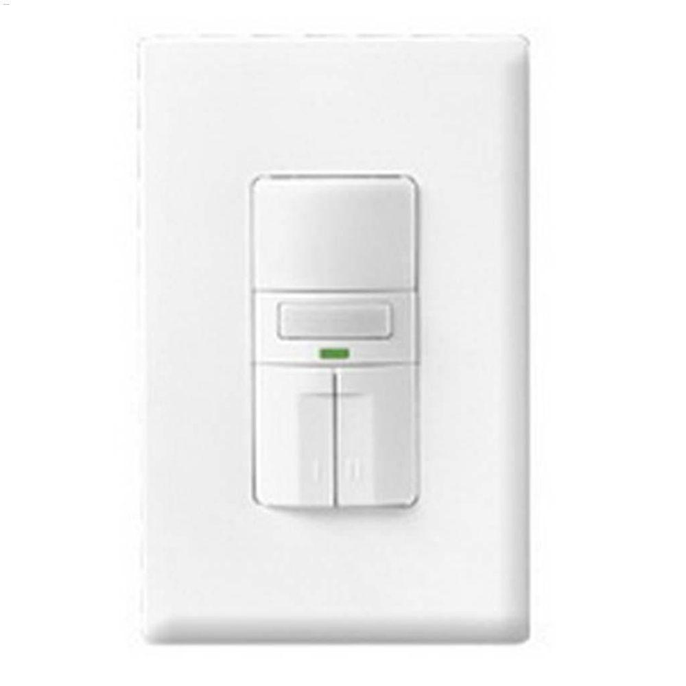 medium resolution of white 3 way motion sensor dual switch with led 120v 1p