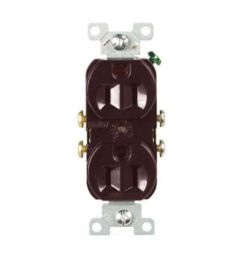 brown duplex receptacle 15a 2p 3w [ 1024 x 1024 Pixel ]