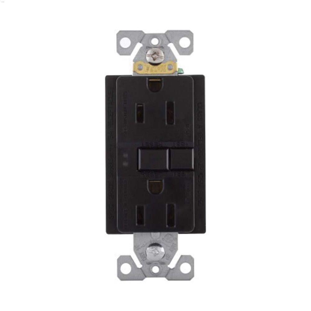medium resolution of black gfci receptacle 15a 2p 3w