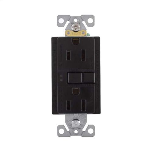 small resolution of black gfci receptacle 15a 2p 3w