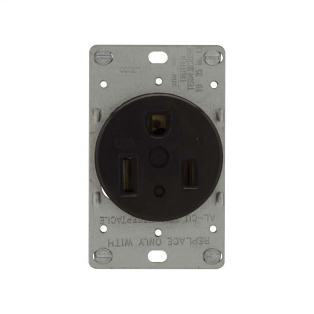 hight resolution of black power receptacle 50a 2p 3w