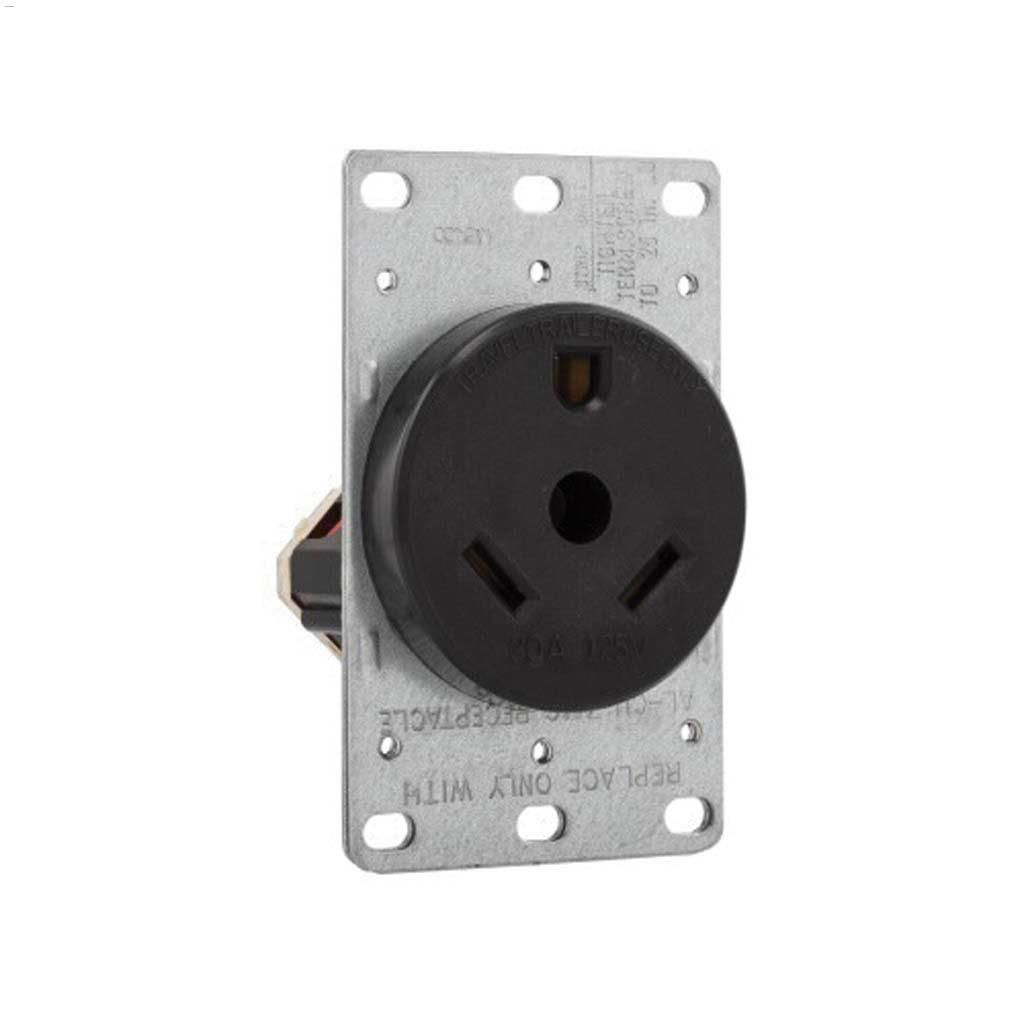 hight resolution of power receptacle 30a 2p 3w
