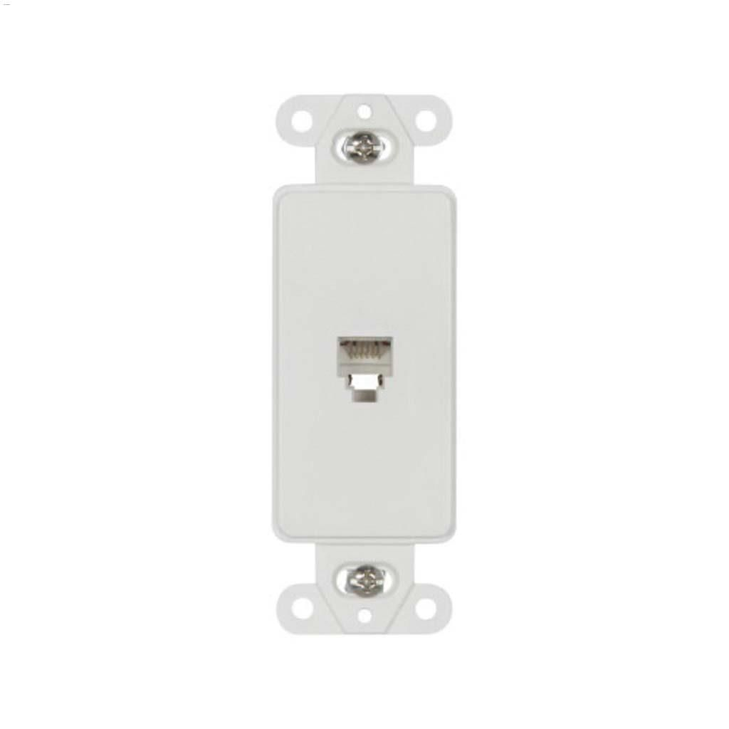 hight resolution of white thermoplastic telephone jack decorator insert white thermoplastic telephone jack decorator insert cooper wiring devices