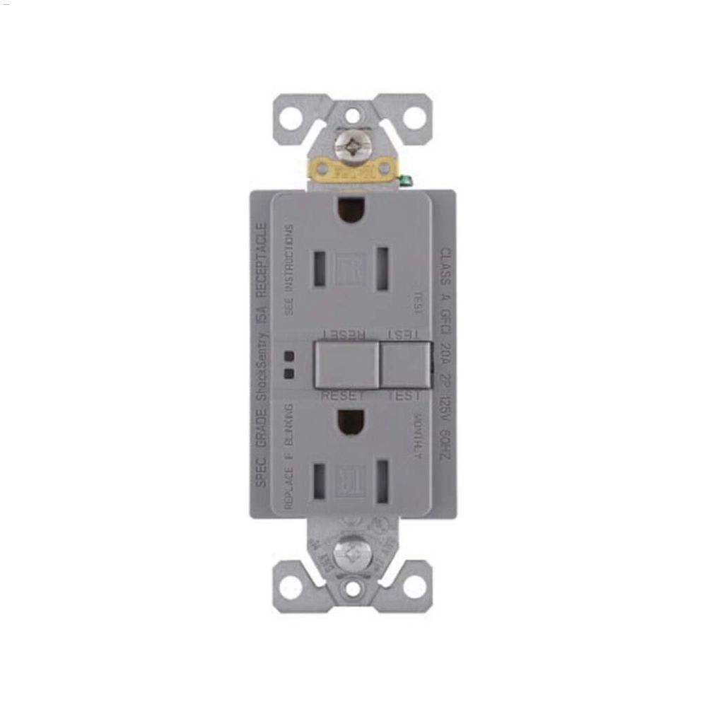 medium resolution of silver granite gfci receptacle 15a 2p 3w