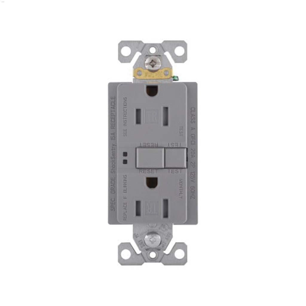 hight resolution of silver granite gfci receptacle 15a 2p 3w