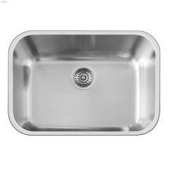 24 Kitchen Sink Install Backsplash Kent Ca Blanco Essential U X 17 3 8 Satin Brushed Home