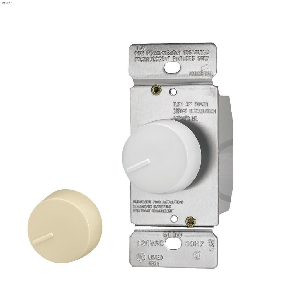hight resolution of ivory white rotary dimmer 120v 1p 3w