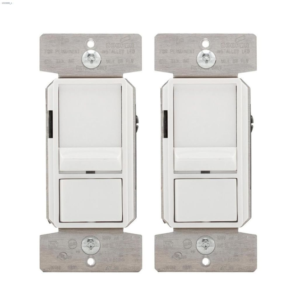 medium resolution of white slide dimmer 120v 1p 3w 2 pack